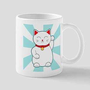 White Lucky Cat Mugs
