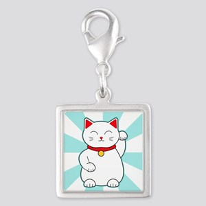 White Lucky Cat Charms