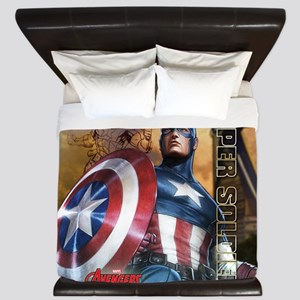 Avengers Super Soldier Captain America' King Duvet