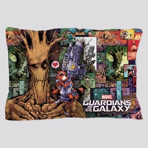 Groot Rocket Comic Pillow Case