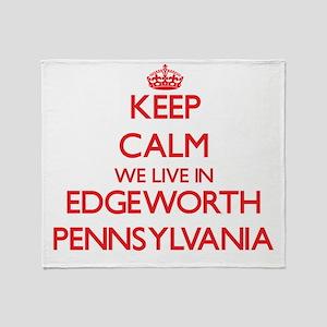 Keep calm we live in Edgeworth Penns Throw Blanket