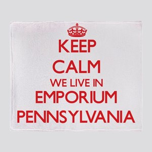Keep calm we live in Emporium Pennsy Throw Blanket