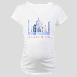 """""""Pixel Taj Mahal"""" Maternity T-Shirt"""