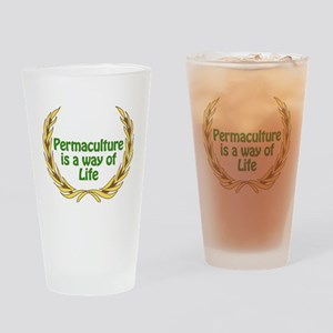 Permaculture Is A Way Of Life Drinking Glass