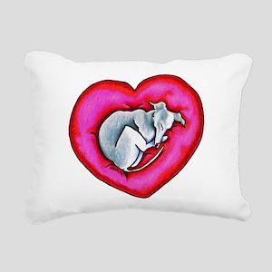 Grey Snuggle Bug Rectangular Canvas Pillow