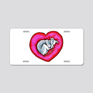 Grey Snuggle Bug Aluminum License Plate