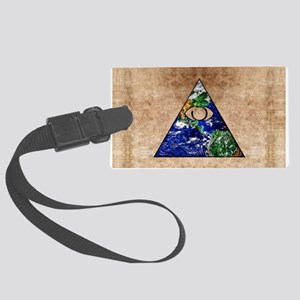 All Seeing All Knowing Large Luggage Tag