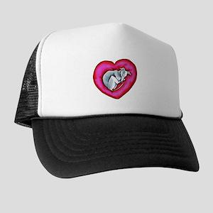Grey Snuggle Bug Trucker Hat
