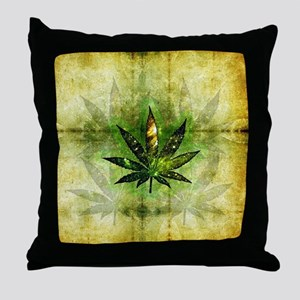 Galactic Ganja Throw Pillow