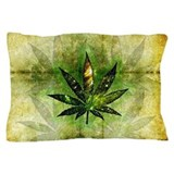 Marijuana leaf Pillow Cases