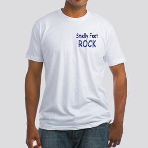 Smelly Feet Rock Fitted T-Shirt