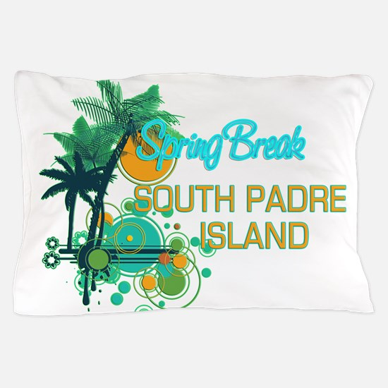 Palm Trees Circles Spring Break SOUTH Pillow Case