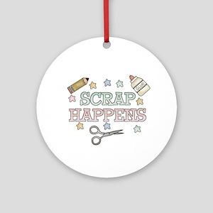 Scrap Happens Ornament (Round)