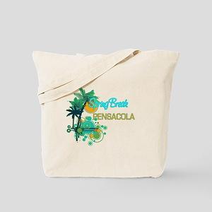 Palm Trees Circles Spring Break PENSACOL Tote Bag