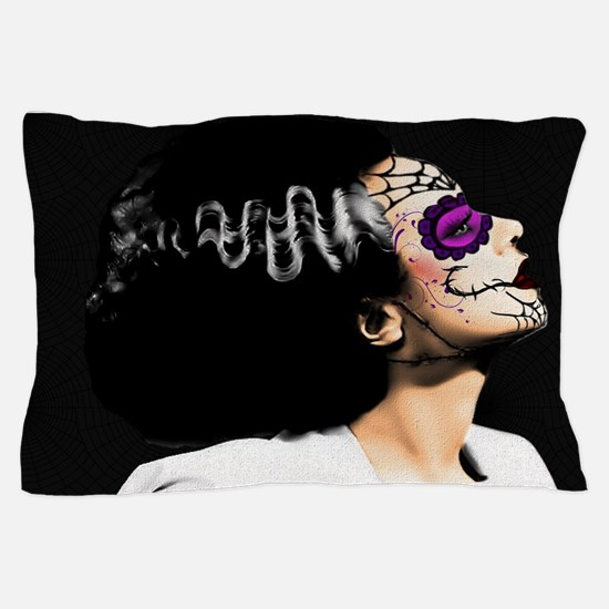 Day Of The Dead Monster's Bride Pillow Case