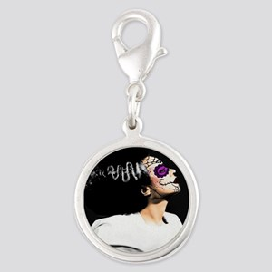 Day Of The Dead Monster's Brid Silver Round Charm