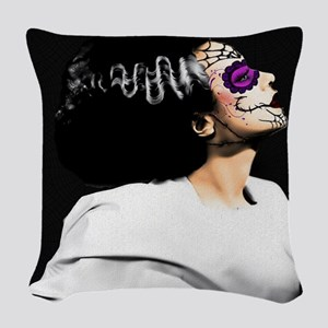 Day Of The Dead Monster's Brid Woven Throw Pillow