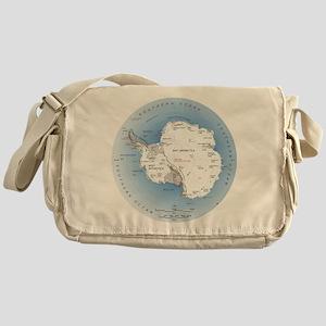 Map Antarctica Messenger Bag