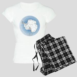 Map Antarctica Women's Light Pajamas