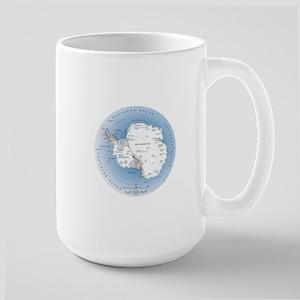 Map Antarctica Large Mug