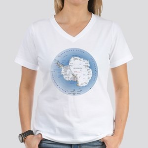 Map Antarctica Women's V-Neck T-Shirt