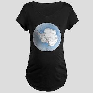 Map Antarctica Maternity Dark T-Shirt