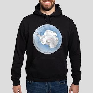 Map Antarctica Hoodie (dark)