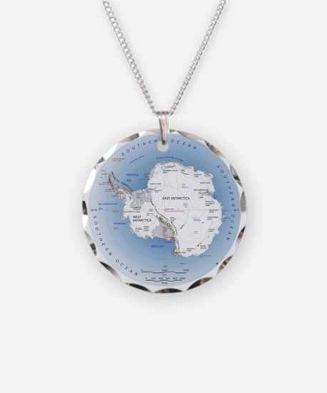Map Antarctica Necklace