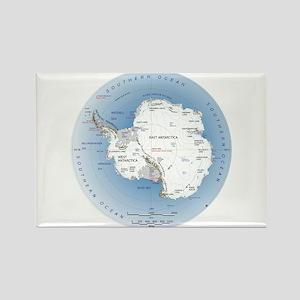 Map Antarctica Rectangle Magnet