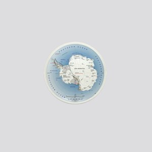 Map Antarctica Mini Button