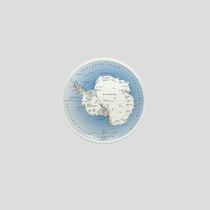 Map Antarctica Mini Button