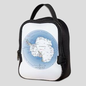 Map Antarctica Neoprene Lunch Bag