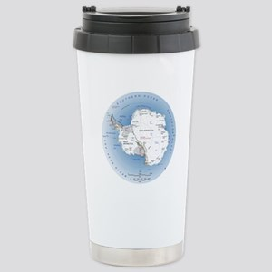 Map Antarctica Stainless Steel Travel Mug