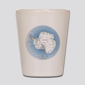 Map Antarctica Shot Glass