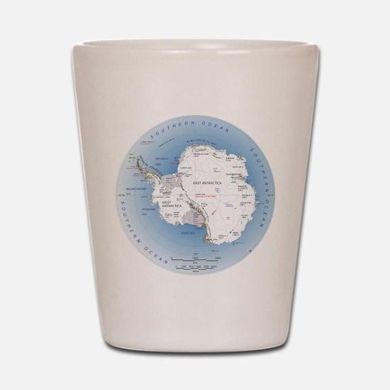 Map Antarctica Shot Glass