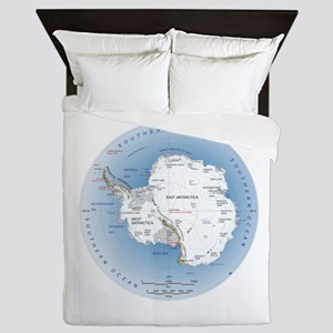 Map Antarctica Queen Duvet