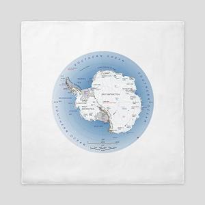 Map Antarctica Queen Duvet