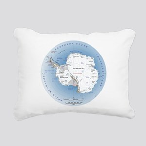 Map Antarctica Rectangular Canvas Pillow