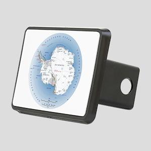 Map Antarctica Rectangular Hitch Cover