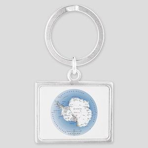 Map Antarctica Landscape Keychain