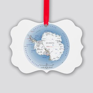 Map Antarctica Picture Ornament