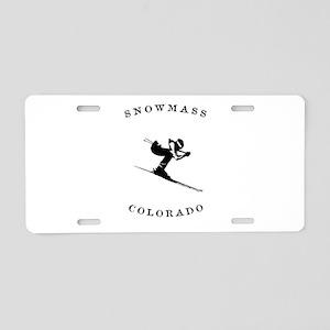 Snowmass Colorado Ski Aluminum License Plate