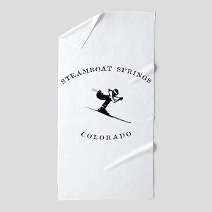 Steamboat Springs Colorado Ski Beach Towel