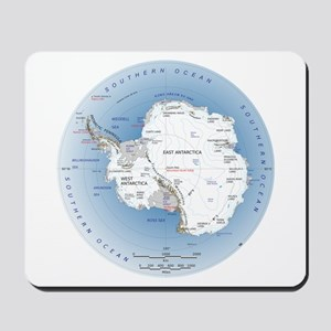 Antarctica labeled map Mousepad