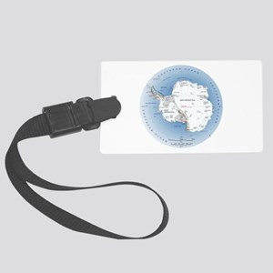 Antarctica Labeled Map Large Luggage Tag