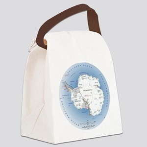 Antarctica labeled map Canvas Lunch Bag