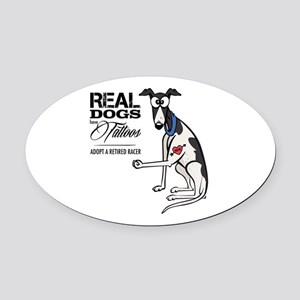 "Tattoos Oval Car Magnet 5"" X 3"""