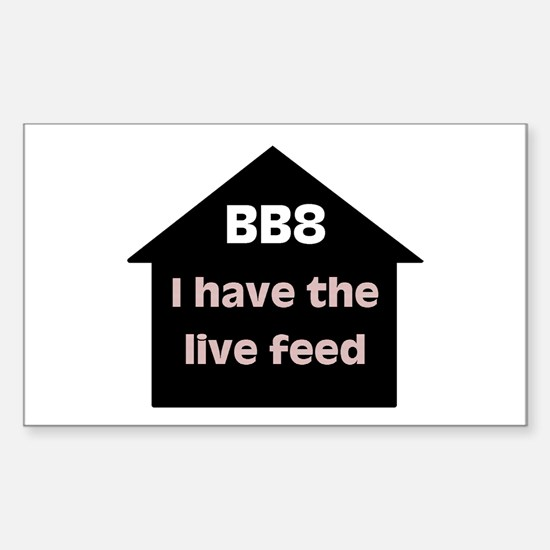BB8 Live Feed Rectangle Decal