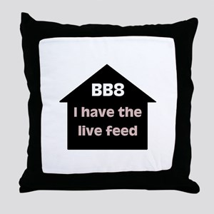 BB8 Live Feed Throw Pillow