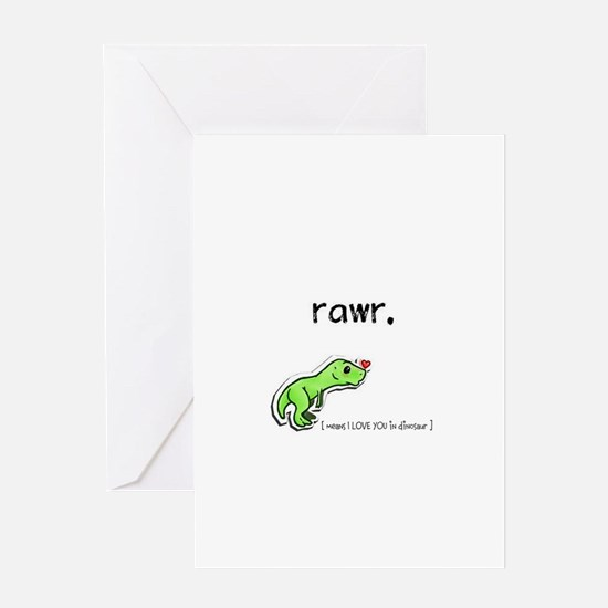 Rawr! I Love you! Greeting Cards